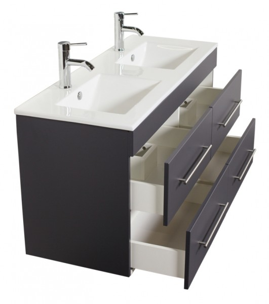 HELIOS Bathroom Vanity Anthracite Semi-Gloss