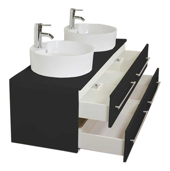 NOVUM XL Bathroom Vanity Black Semi-Gloss