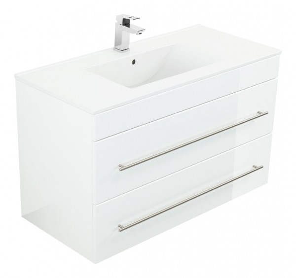 INFINITY 1000 Bathroom Vanity White High-Gloss