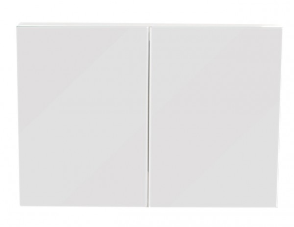 Medicine Cabinet basic 35.4 inches White High Gloss