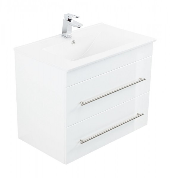 INFINITY 750 Bathroom Vanity White High-Gloss