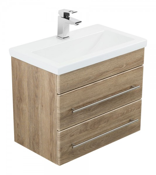 Bathroom Vanity Mars 600 SlimLine light oak