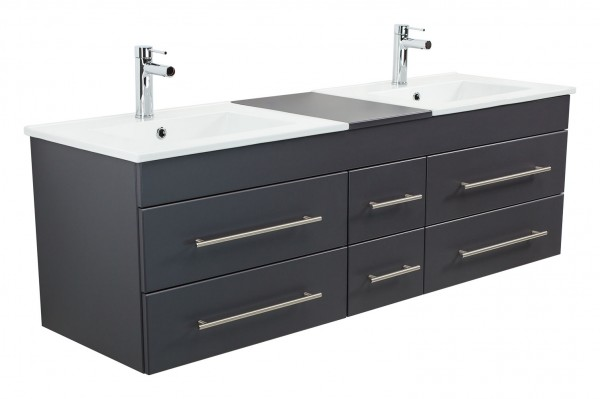 ROMA XL Bathroom Vanity Anthracite Semi-Gloss