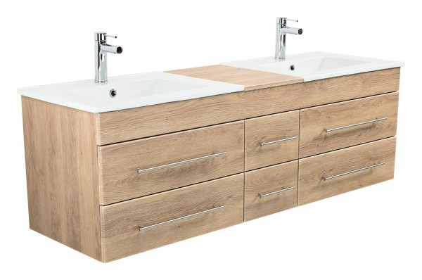ROMA XL Bathroom Vanity light oak