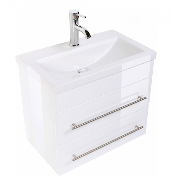 Bathroom Vanity Mars 600 SlimLine White High-Gloss