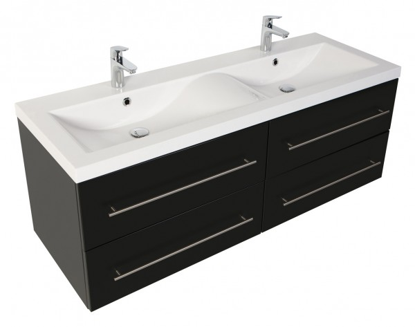 PERSEPOLIS XL Bathroom Vanity Black Semi-Gloss