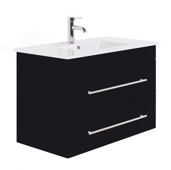 INFINITY 900 Bathroom Vanity Black Semi-Gloss