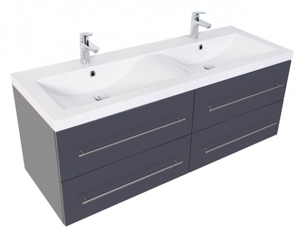 PERSEPOLIS XL Bathroom Vanity Anthracite Semi-Gloss