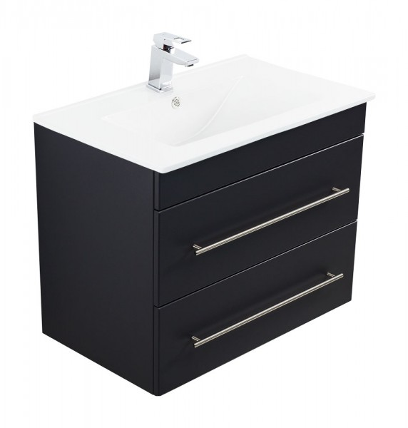 INFINITY 750 Bathroom Vanity Black Semi-Gloss
