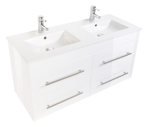 HELIOS Bathroom Vanity White High-Gloss