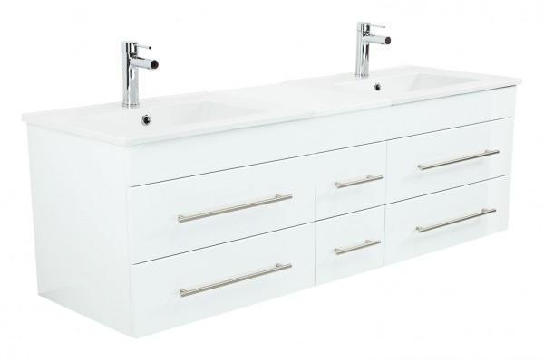 ROMA XL Bathroom Vanity White High-Gloss