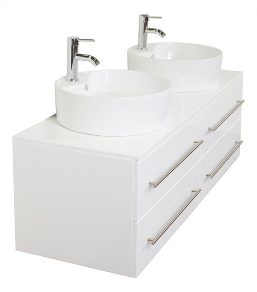 NOVUM XL Bathroom Vanity White High-Gloss