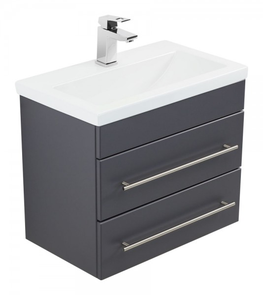 Bathroom Vanity Mars 600 SlimLine Anthracite Semi-Gloss