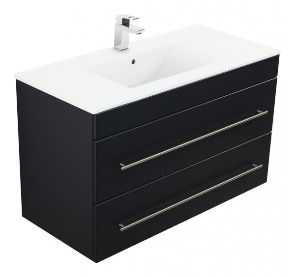 INFINITY 1000 Bathroom Vanity Black Semi-Gloss