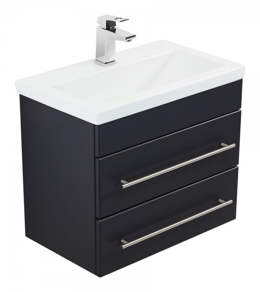 Bathroom Vanity Mars 600 SlimLine Black Semi-Gloss