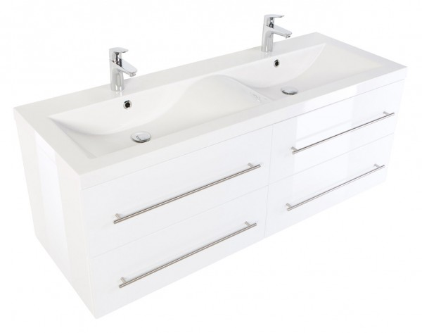 PERSEPOLIS XL Bathroom Vanity White High-Gloss