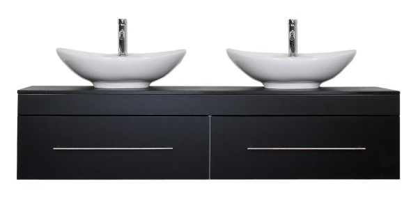 CLASSICO XL Bathroom Vanity Black Semi-Gloss