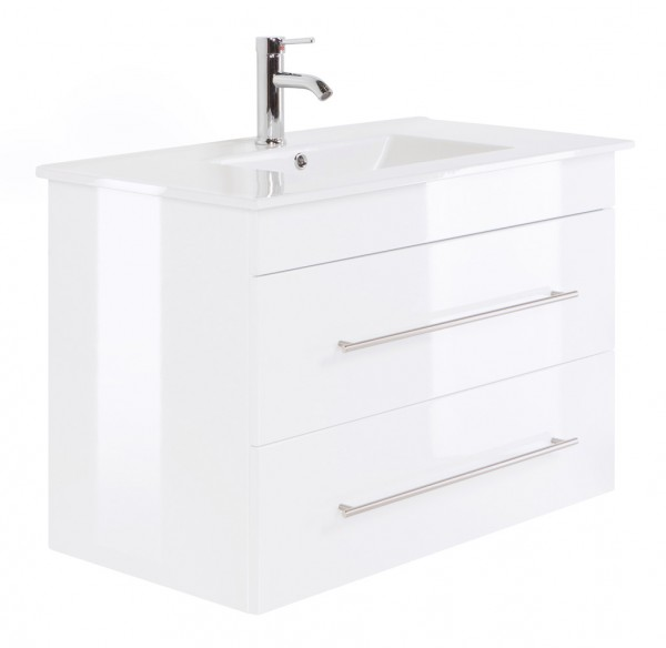 INFINITY 900 Bathroom Vanity White High-Gloss