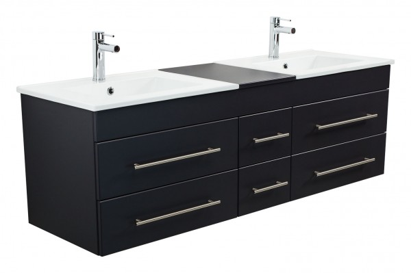 ROMA XL Bathroom Vanity Black Semi-Gloss