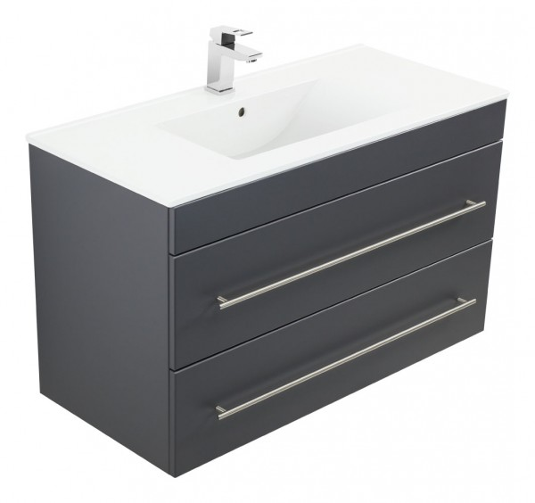 INFINITY 1000 Bathroom Vanity Anthracite Semi-Gloss